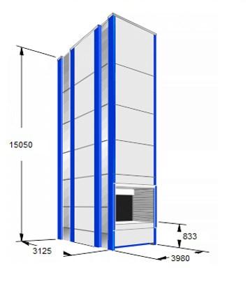 Автоматизированные лифтовые склады KARDEX высотой 15 метров